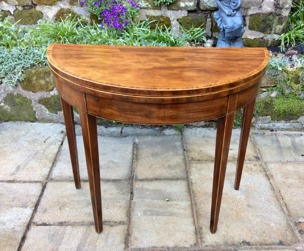 lovely georgian mahogany card table