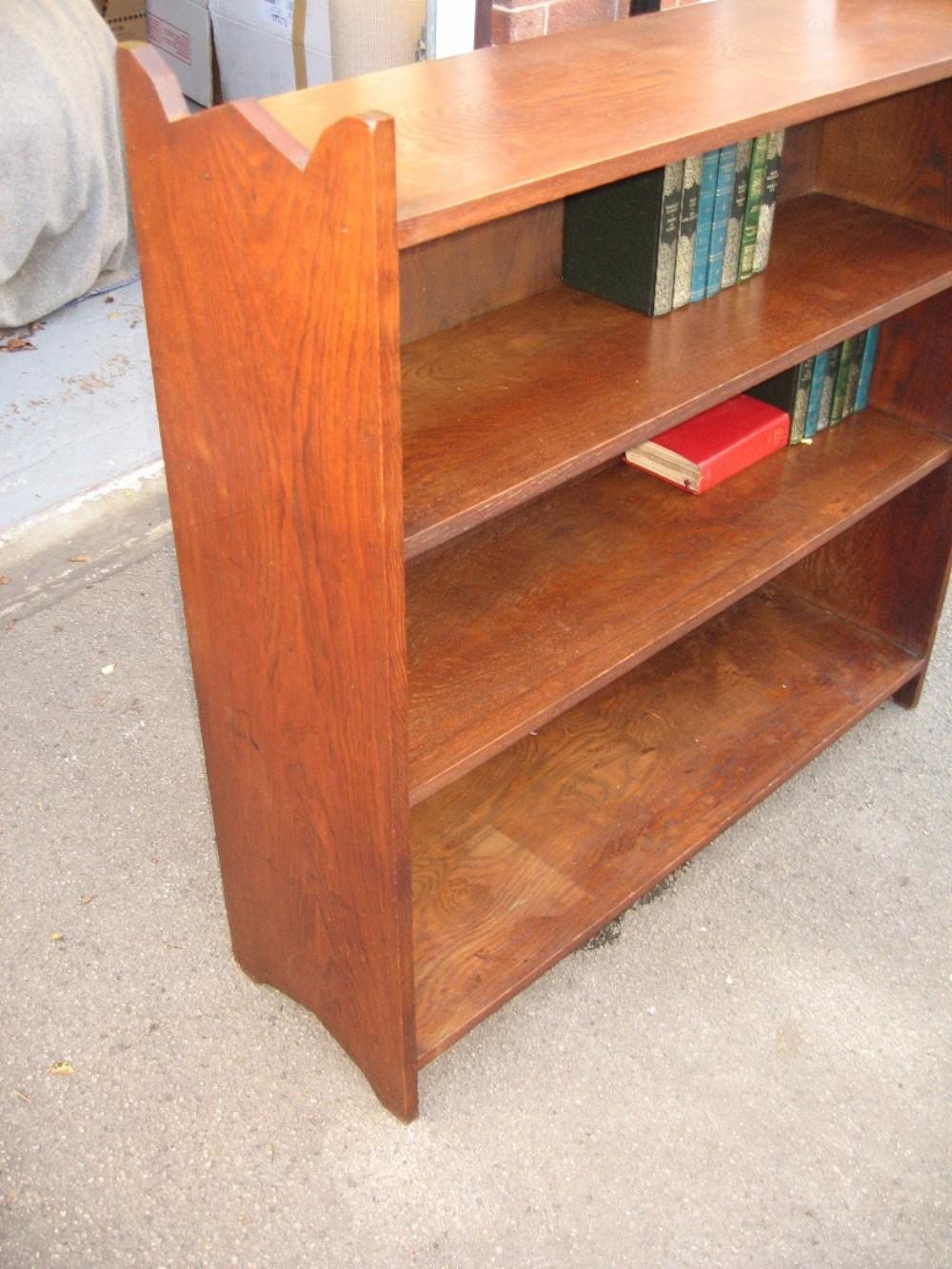 oak open small bookcase