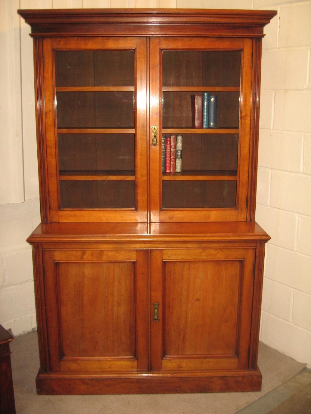 late victorian cupboard bookcase