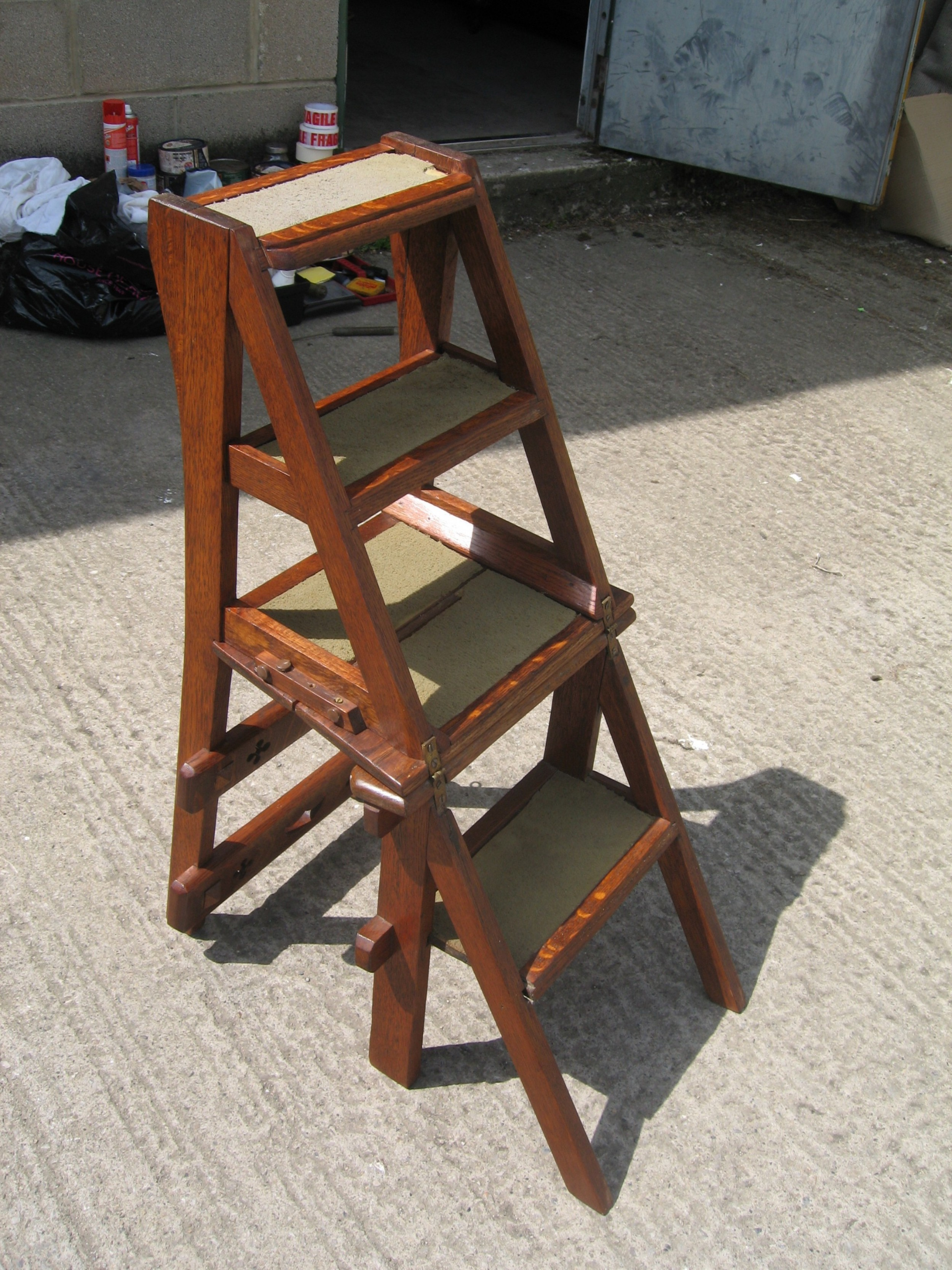 Pleasing Victorian Oak Folding Chair Steps 546892 Sellingantiques Alphanode Cool Chair Designs And Ideas Alphanodeonline