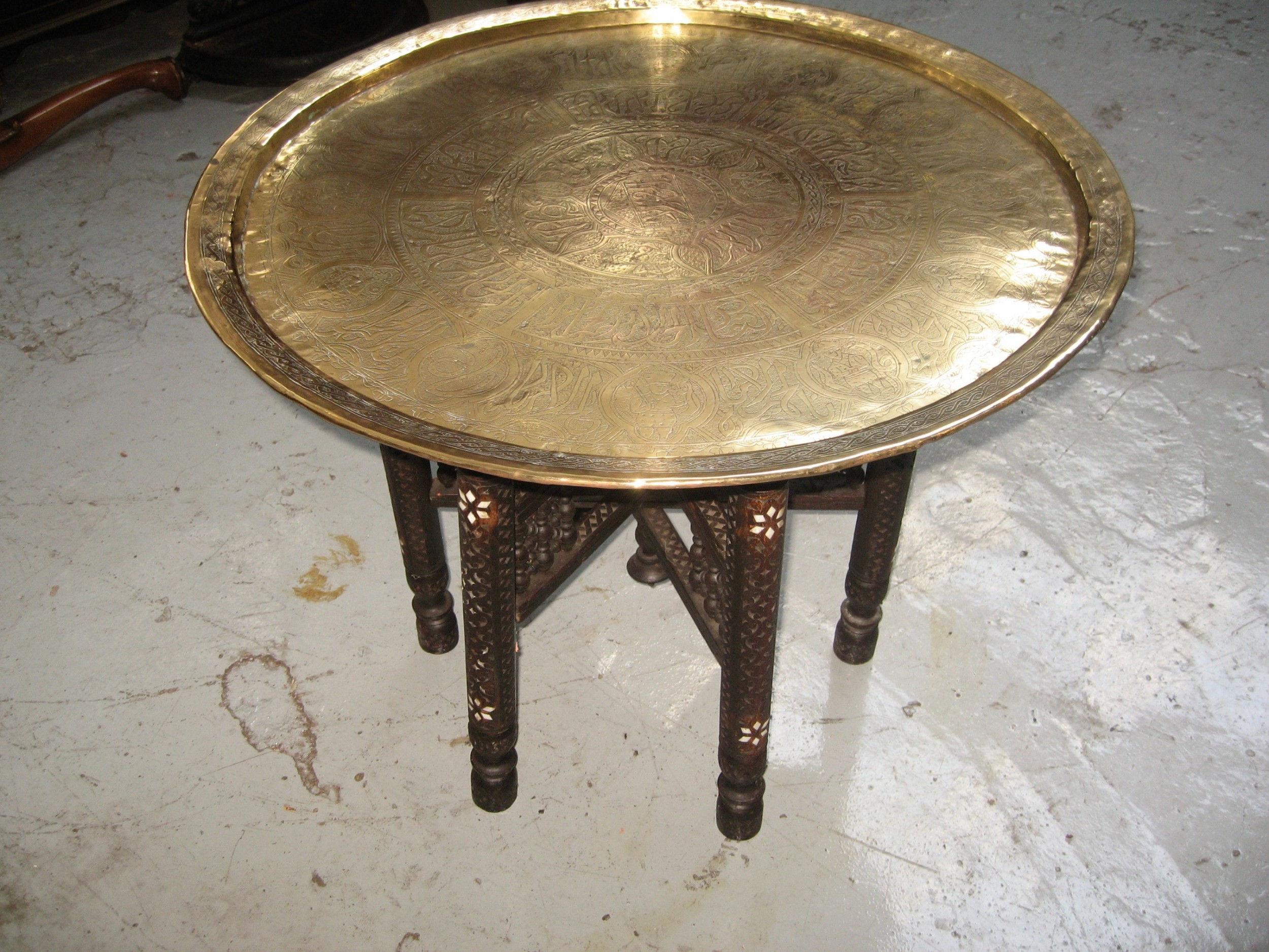 - Brass Top Folding Coffee Table 584044 Sellingantiques.co.uk