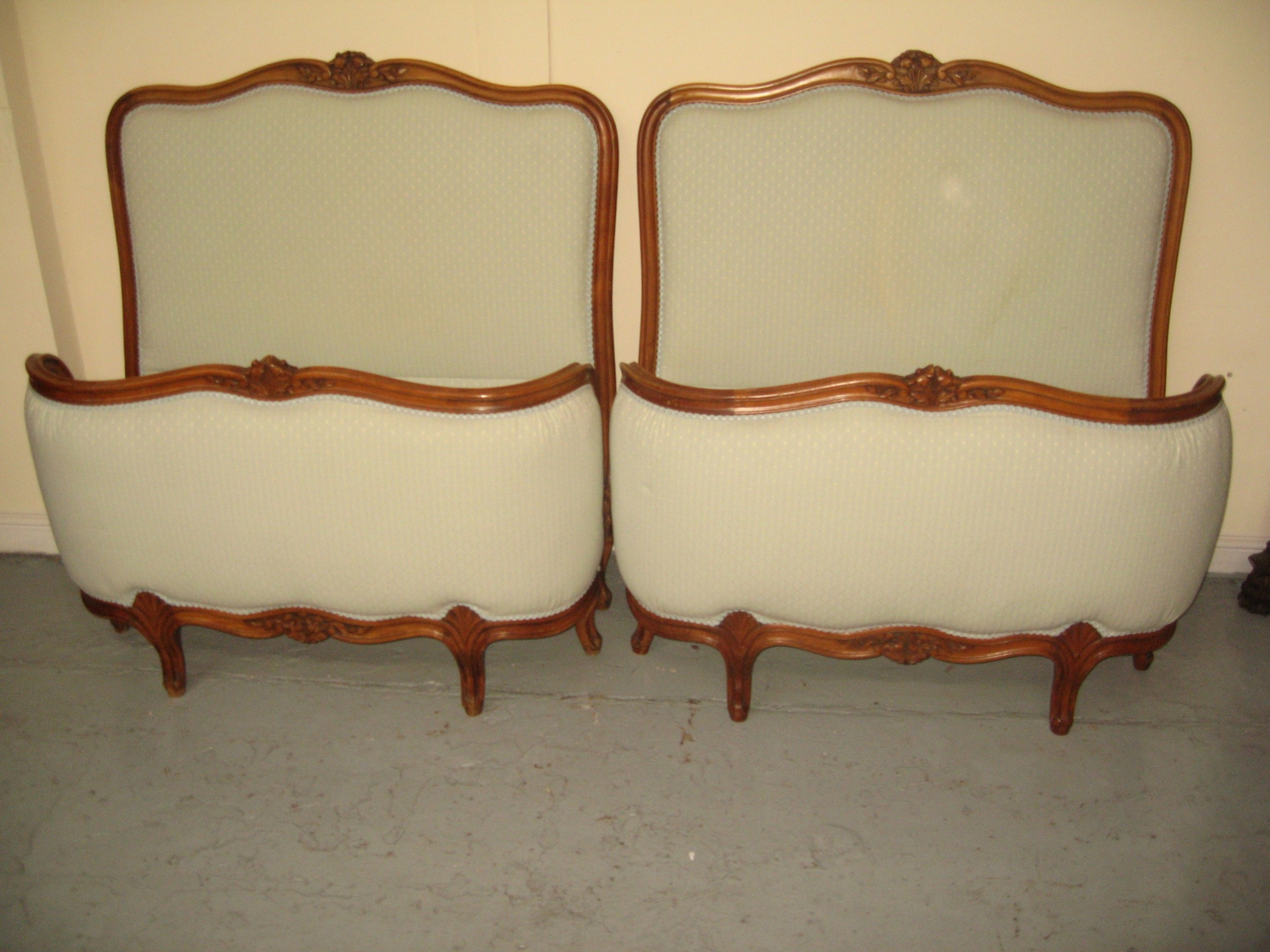pair of french single beds