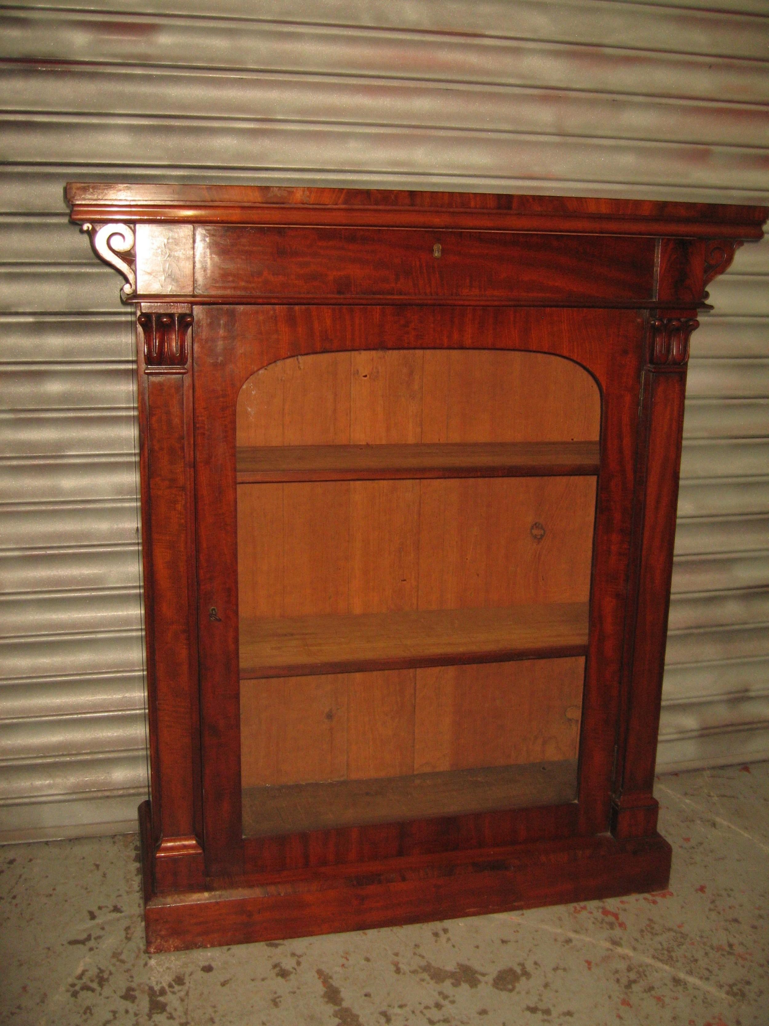 small size 19th century mahogany bookcase