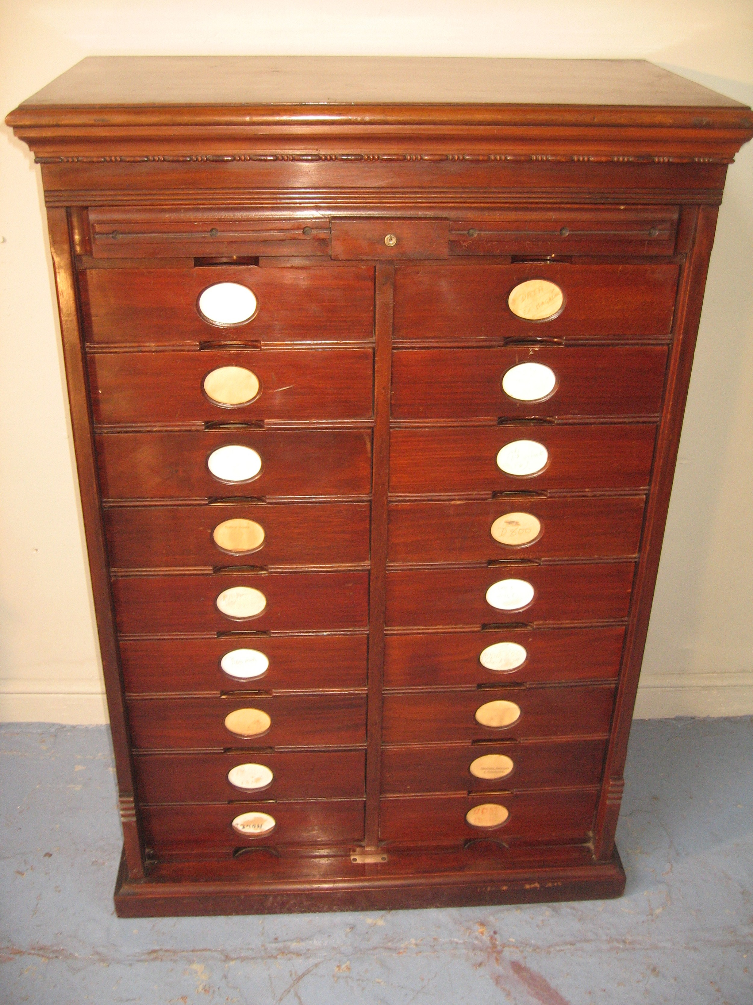 late 19th century mahogany american amberg letter file cabinet