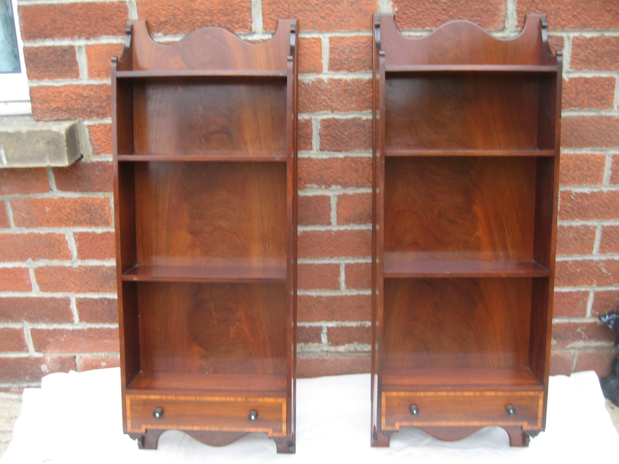 attractive pair of 19th century wall hanging shelves