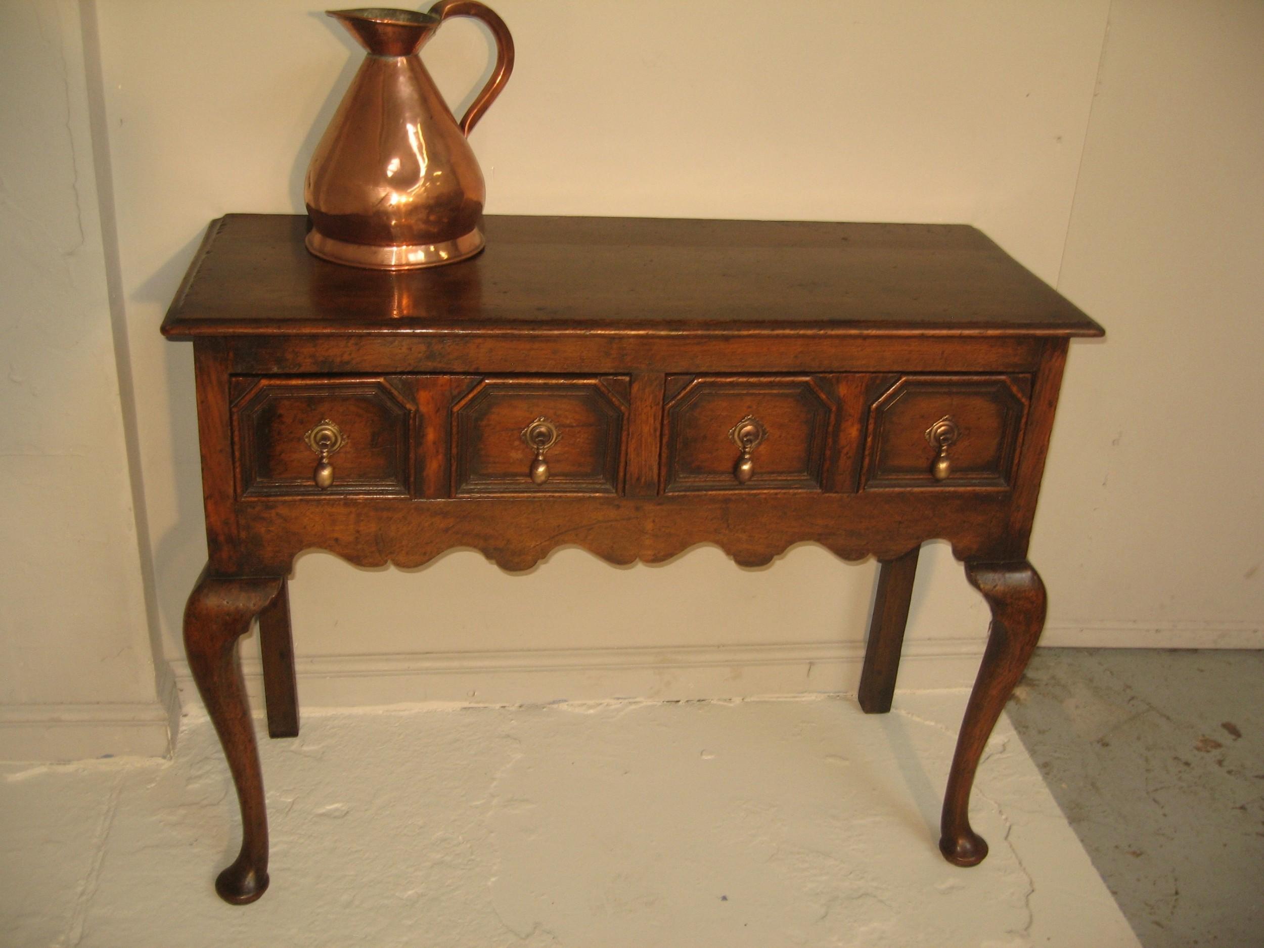 small neat size oak dresser base
