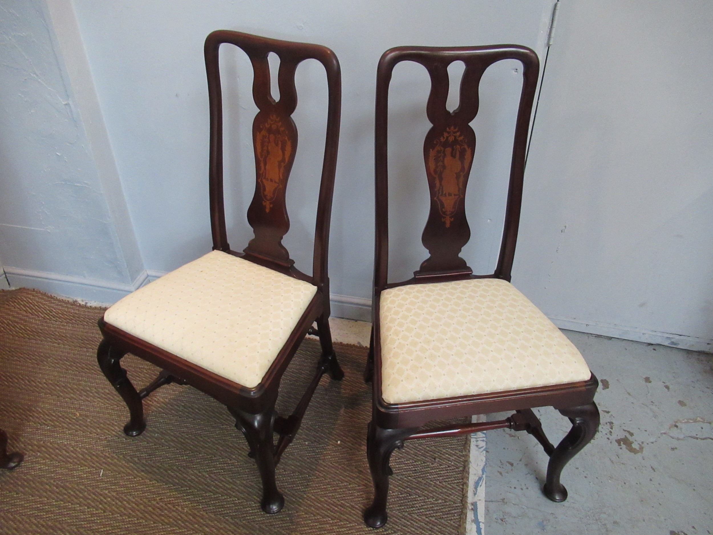 quality pair of mahogany chairs