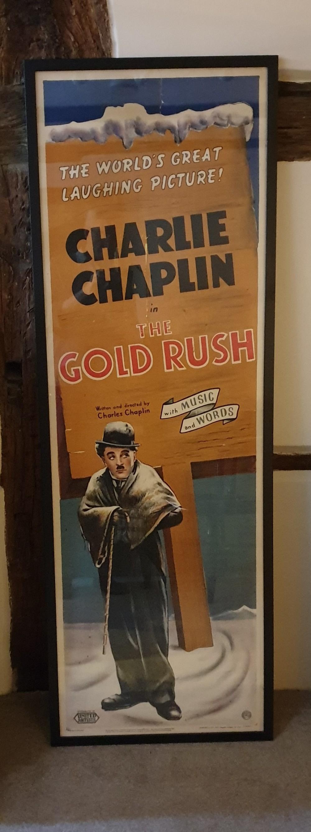 charlie chaplin's ' the gold rush' an original door poster