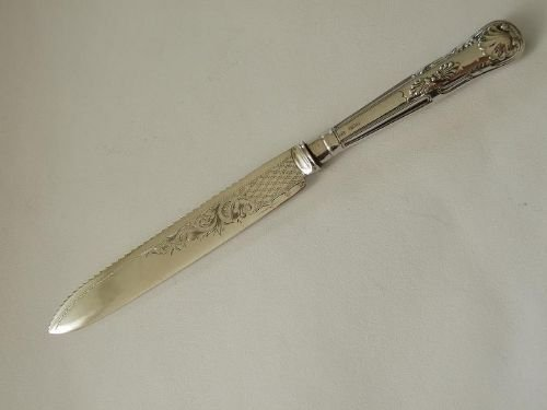 antique silver wedding cake knife superb edwardian silver handled wedding cake knife 10791