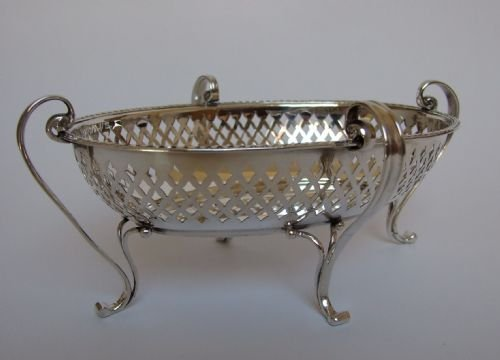 a gorgeous pierced silver sweetmeat basket by goldsmiths silversmiths co