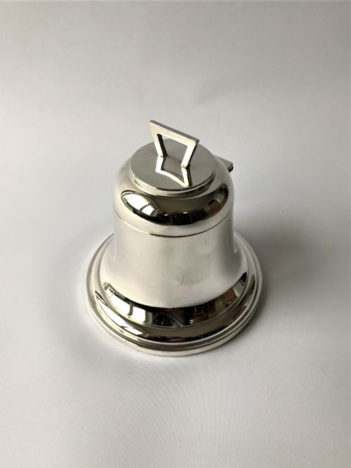 a handsome novelty silver 'bell' inkwell