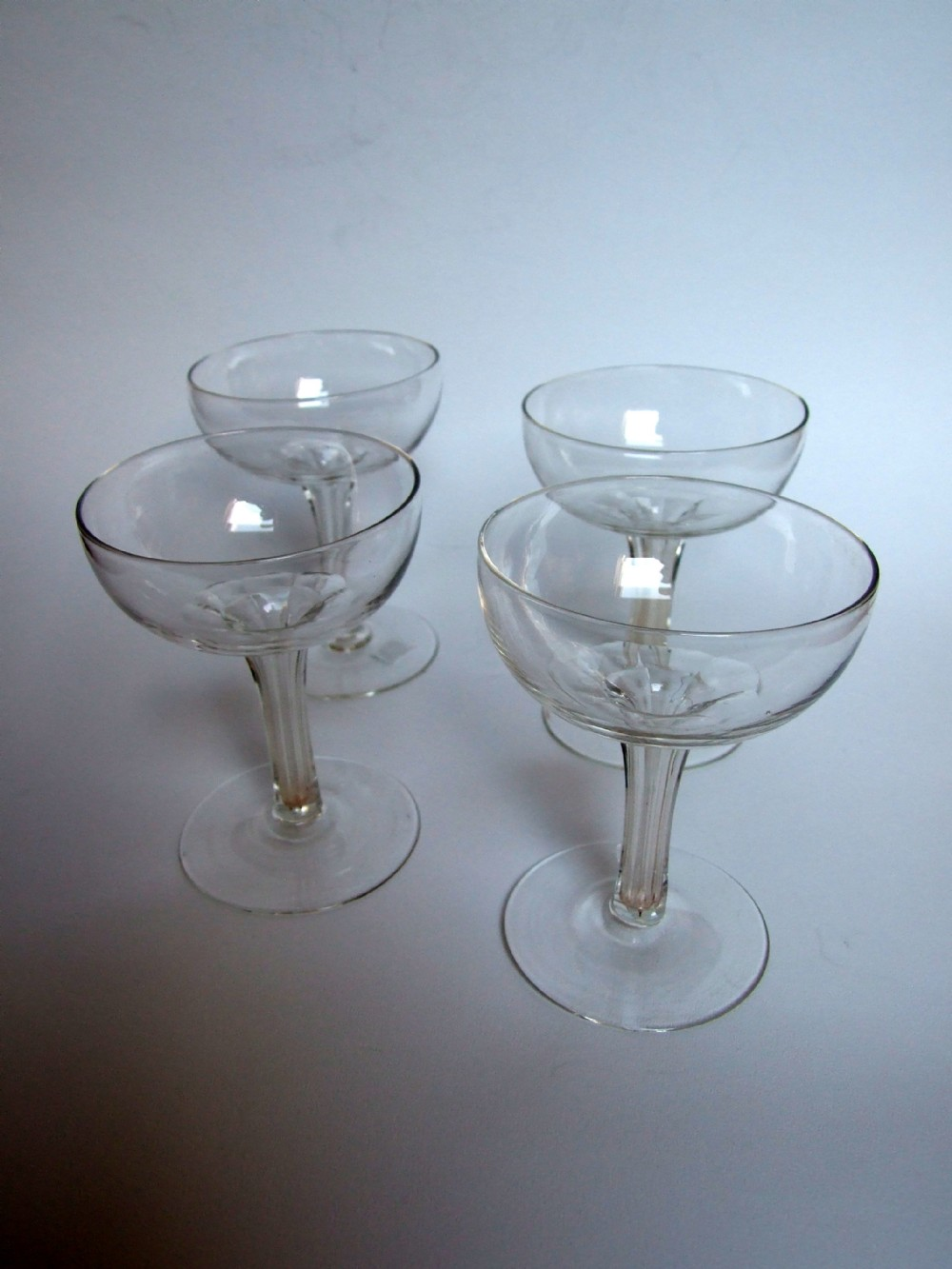 A good set of four late victorian hollow stem champagne glasses 295437 - Hollow stem champagne glasses ...