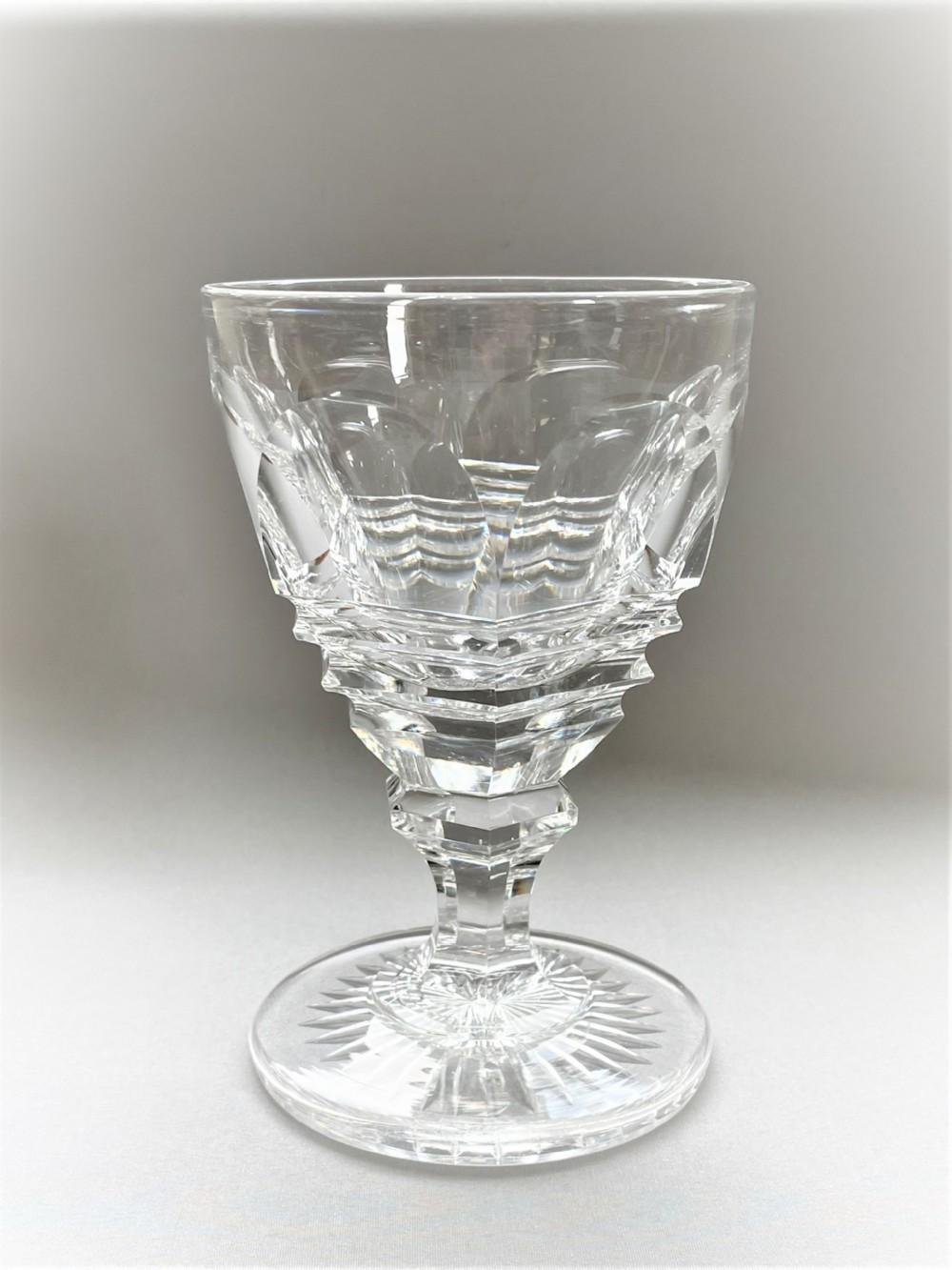 a fabulous baccarat cut glass rummer
