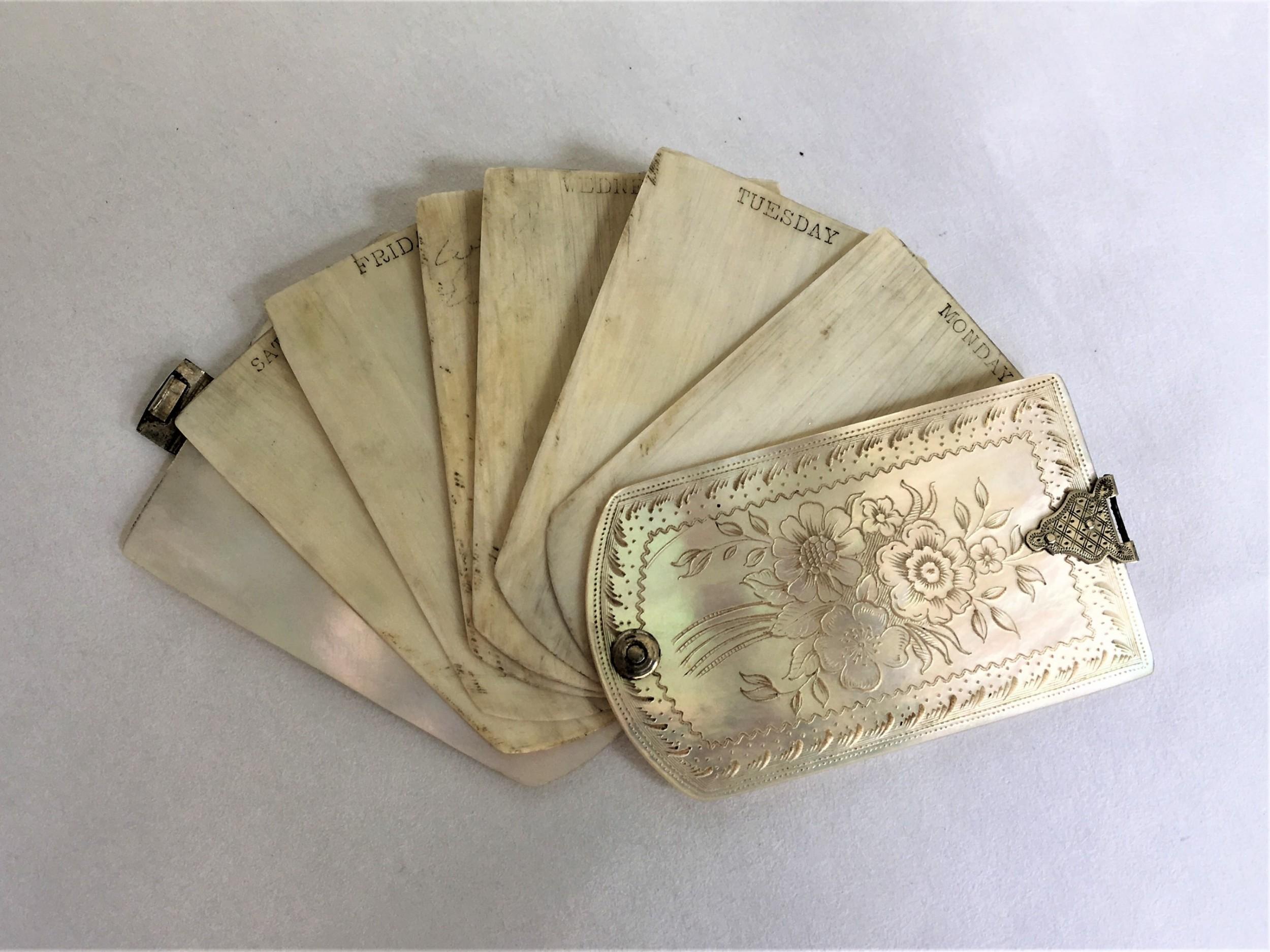 Antique Aide Memoire Pens & Writing Instruments Art Nouveau