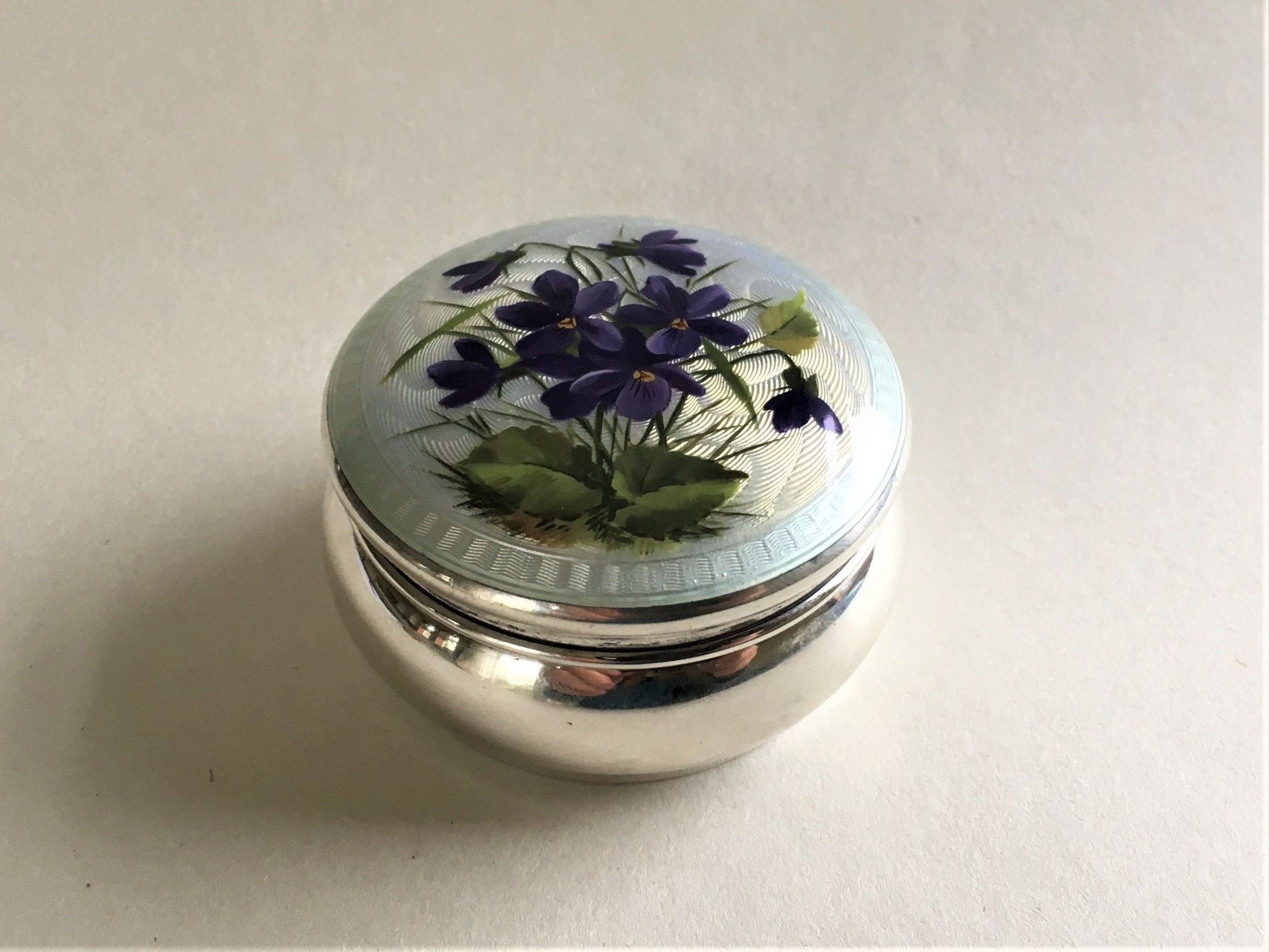 a fabulous silver and enamel trinket box