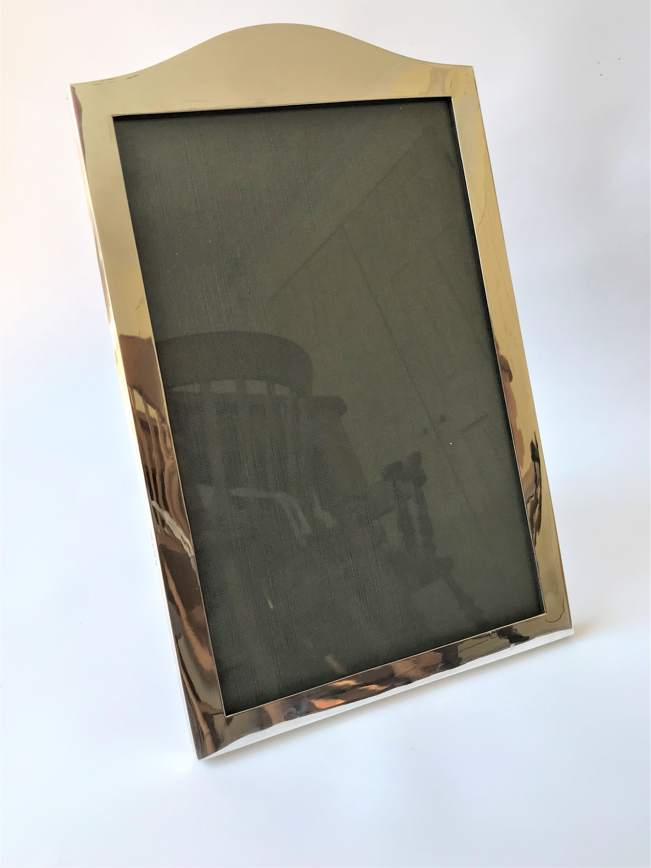 a very large handsome silver photo frame