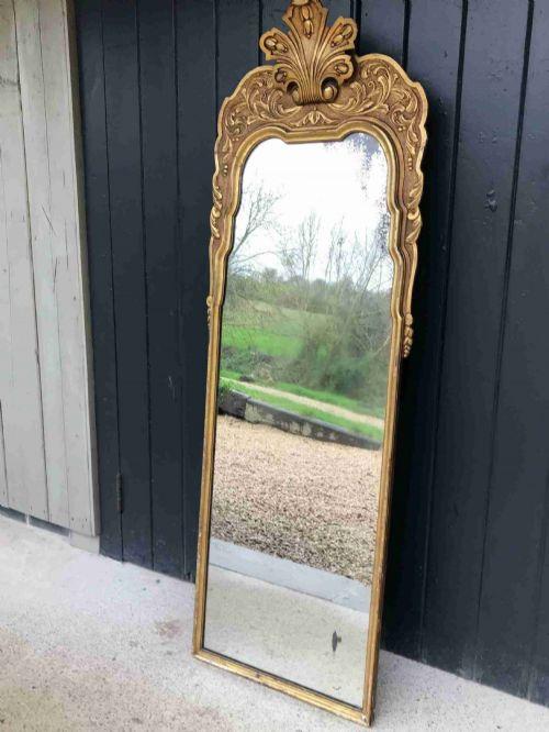a french gilt wood dressing mirror