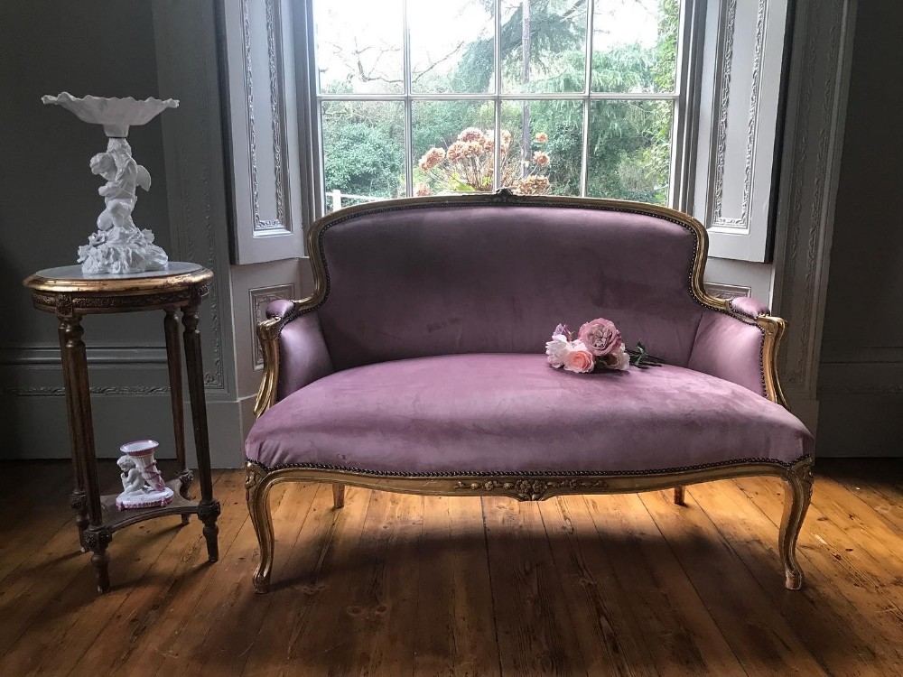 french giltwood sofa or canape c1890