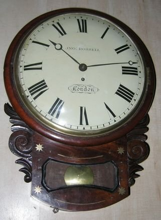 georgian convex dial fusee wall clock