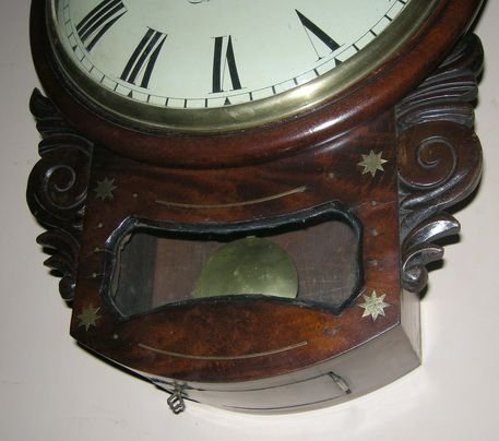 georgian convex dial fusee wall clock - photo angle #2