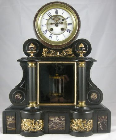 Visible Escapement Mercury Pendulum Mantel Clock 199826