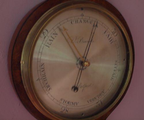 A Belfast Georgian Mercury Barometer By Bianchi Of Belfast