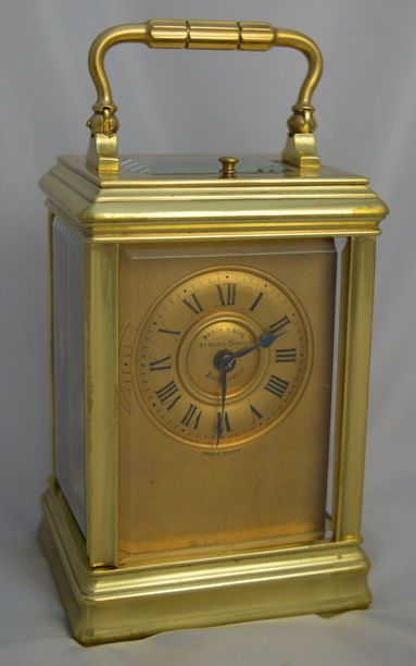 striking and repeating carriage clock