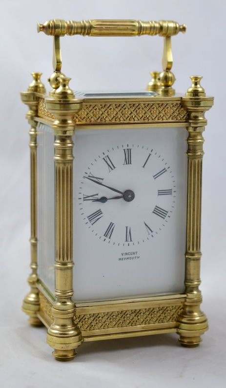 french decorative carriage clock