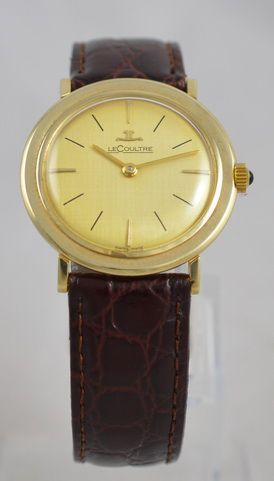 14k gold lecoultre wristwatch