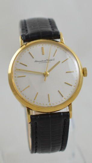 1961 18k gold iwc wristwatch