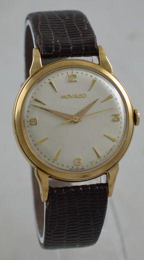 1957 movado 9k gold wristwatch