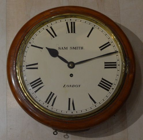 sam smith london english fusee wall clock