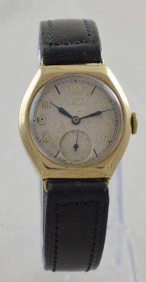 1937 omega 9k gold wristwatch