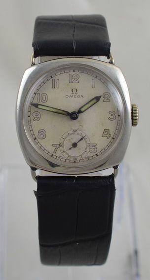 1938 omega 'cushion cased' wristwatch
