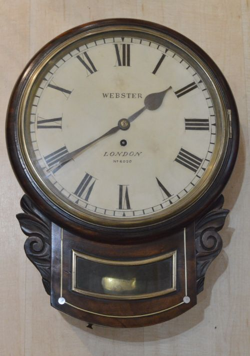 a georgian dropdial wall clock by webster of london