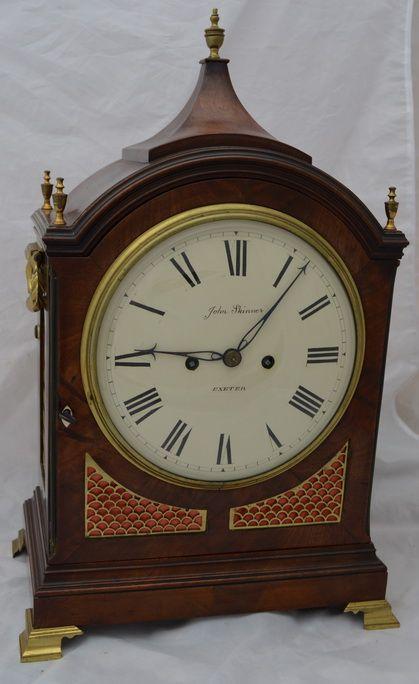 a georgian twin fusee bracket clock by skinner exeter
