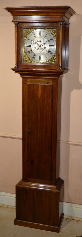 a georgian cottage longcase clock by john barber of droitwich