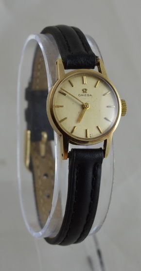 a 1960 ladies 9k gold omega wristwatch