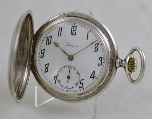 1926 engraved longines full hunter pocket watch