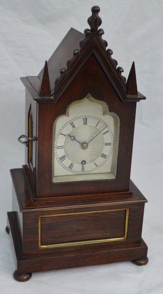 an english georgian fusee mantlelibrary clock