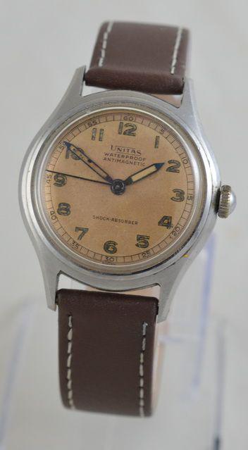unitas manual wind wristwatch