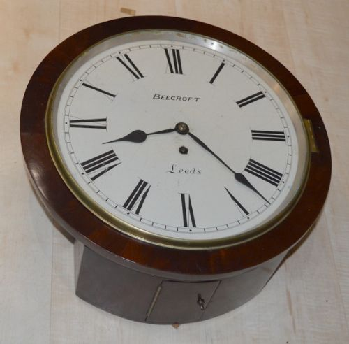an english fusee dial clock by beecroft of leeds