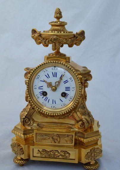 french ormolu bronze mantel clock