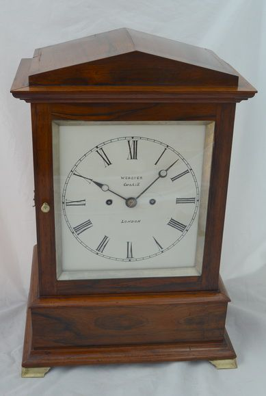 webster of london rosewood twin fusee bracket mantel clock