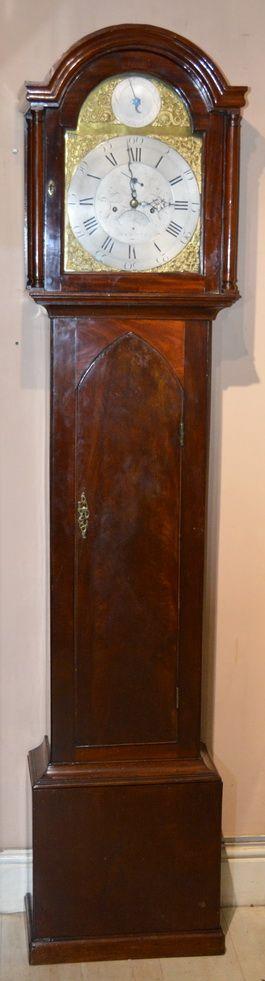 hawkins of plymouth georgian longcase grandfather clock