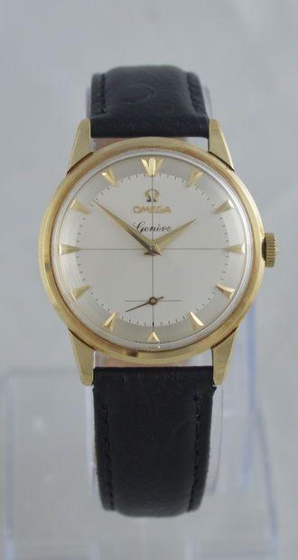 1959 omega geneve 9k gold wristwatch