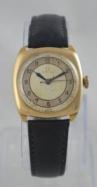 1938 omega 9k gold wristwatch