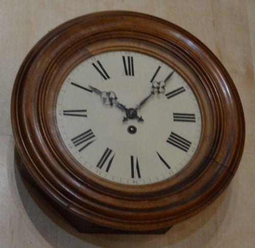 french walnut dial wall clock