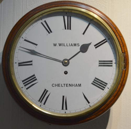 williams of cheltenham fusee dial wall clock
