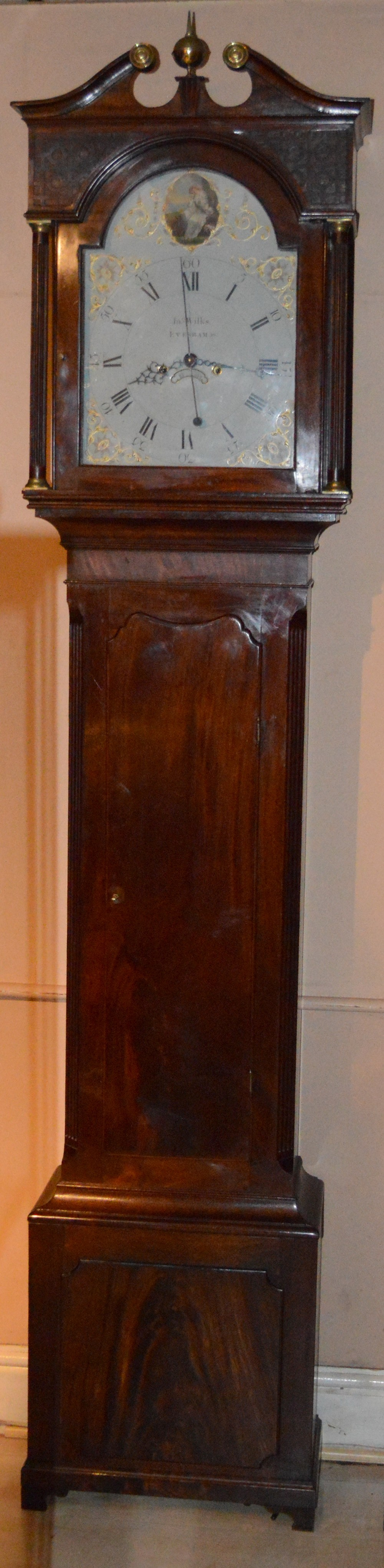 a georgian longcase clock by john wilkes of evesham